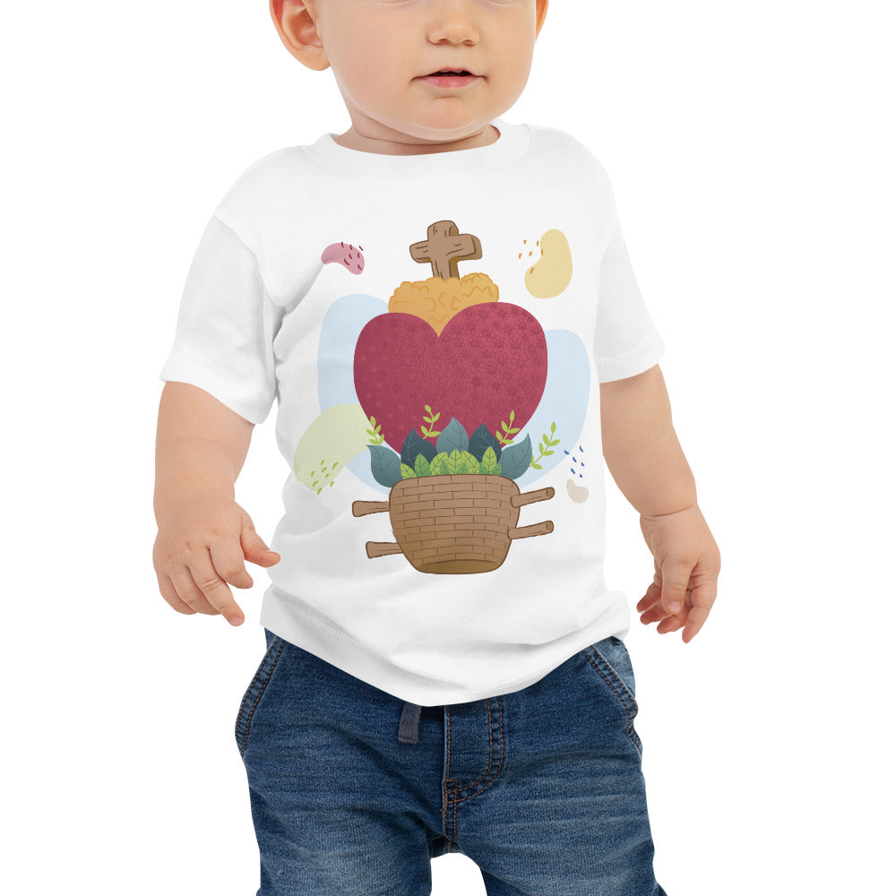 Oaxacan Flower Basket  Baby Jersey Short Sleeve Tee - Corazón Clothing