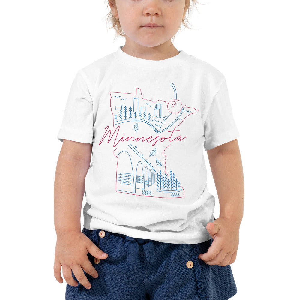 All of Minnesota Too Toddler Short Sleeve Tee - Corazón Clothing