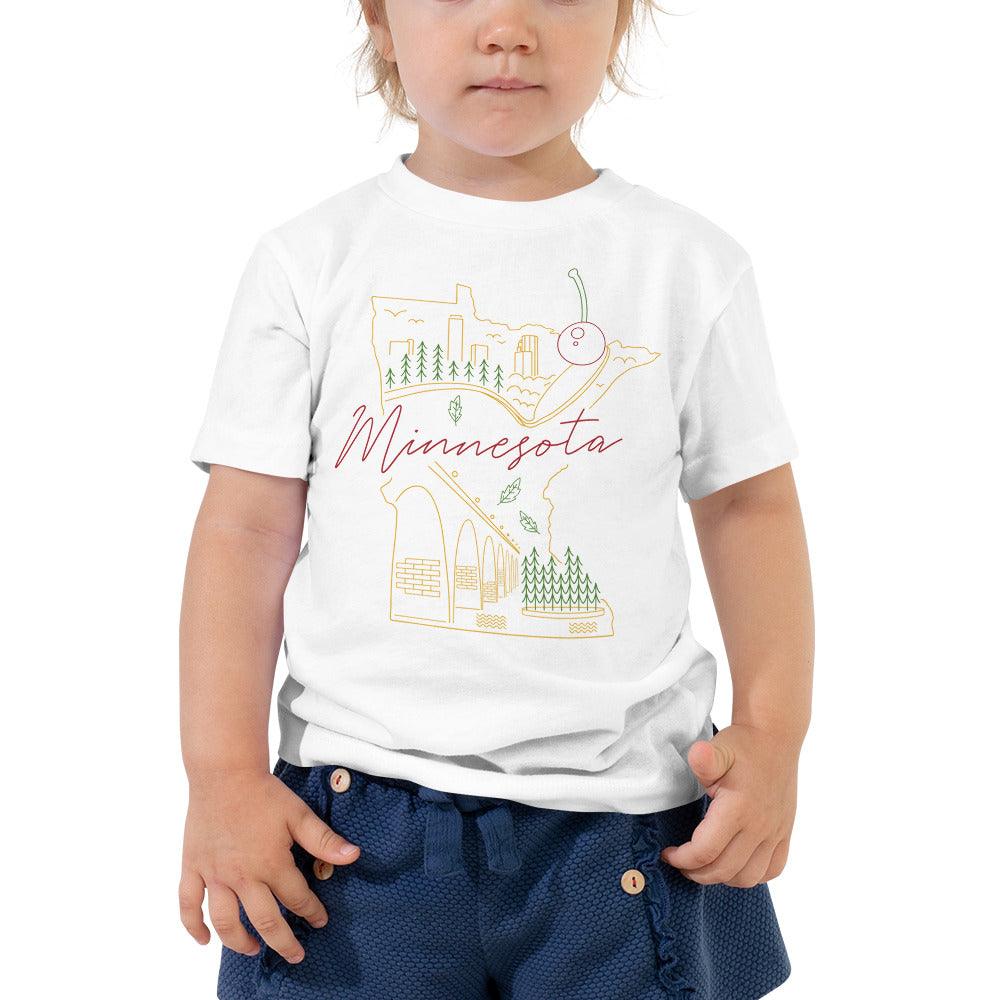 All of Minnesota Toddler Short Sleeve Tee - Corazón Clothing