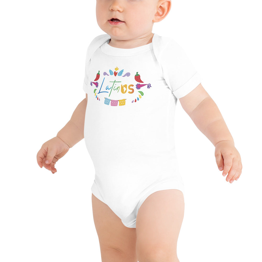 Latin Us Infant Short Sleeve Bodysuit - Corazón Clothing