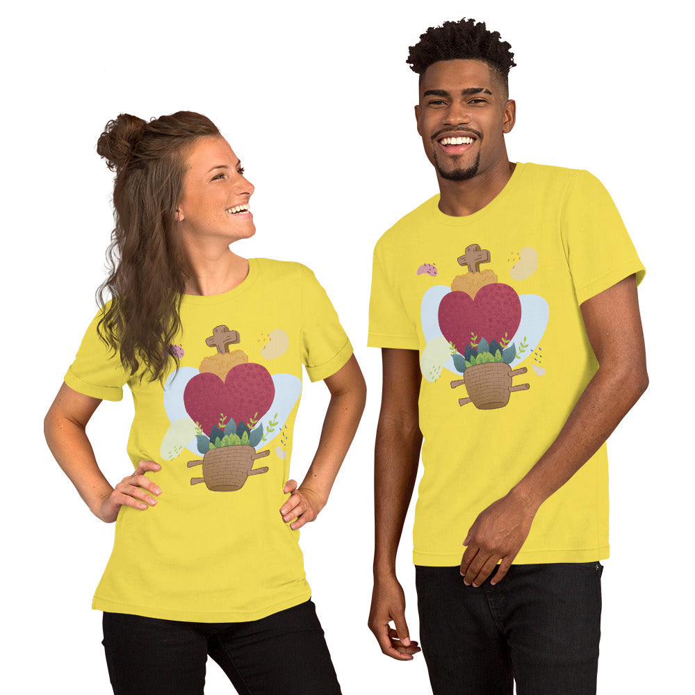 Oaxacan Flower Basket Short-Sleeve Unisex T-Shirt - Corazón Clothing
