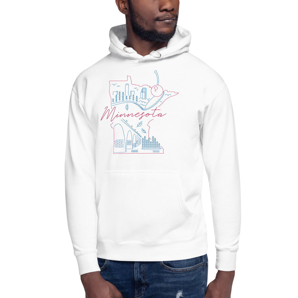 All of Minnesota Too Hoodie - Corazón Clothing