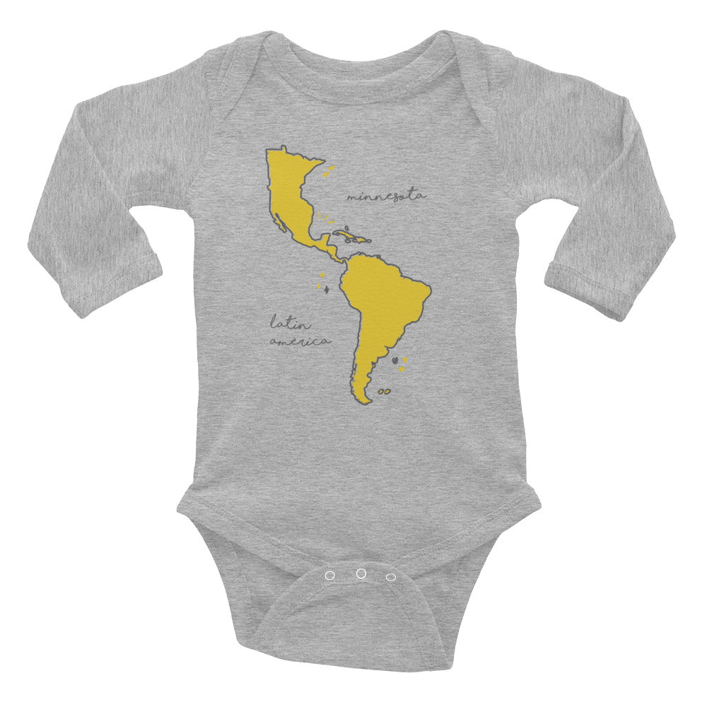 We're All One Infant Long Sleeve Bodysuit - Corazón Clothing