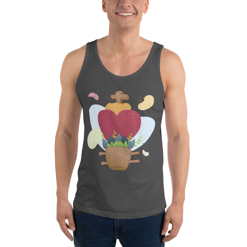 Oaxacan Flower Basket Unisex Tank Top - Corazón Clothing