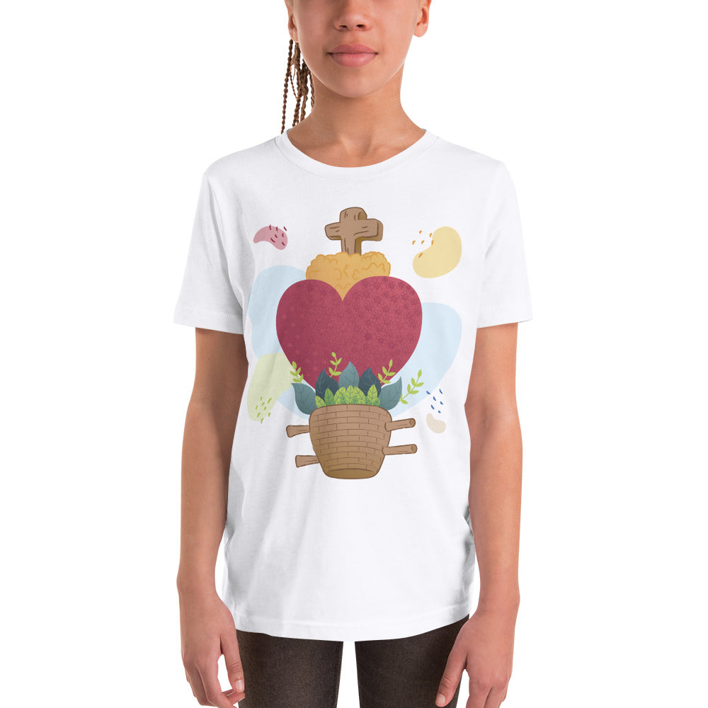 Oaxacan Flower Basket  Youth Tee - Corazón Clothing