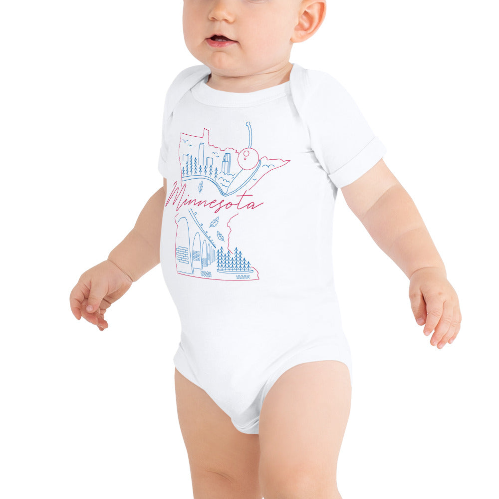 All of Minnesota Too Infant Short Sleeve Bodysuit - Corazón Clothing