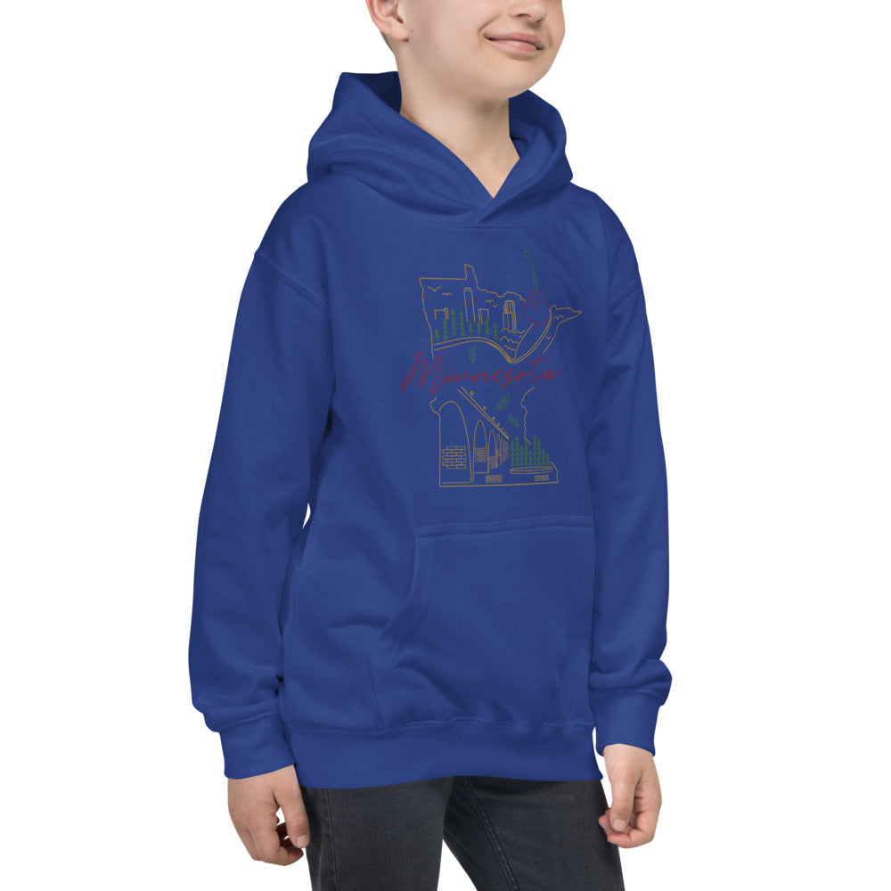 All of Minnesota Kids Hoodie - Corazón Clothing