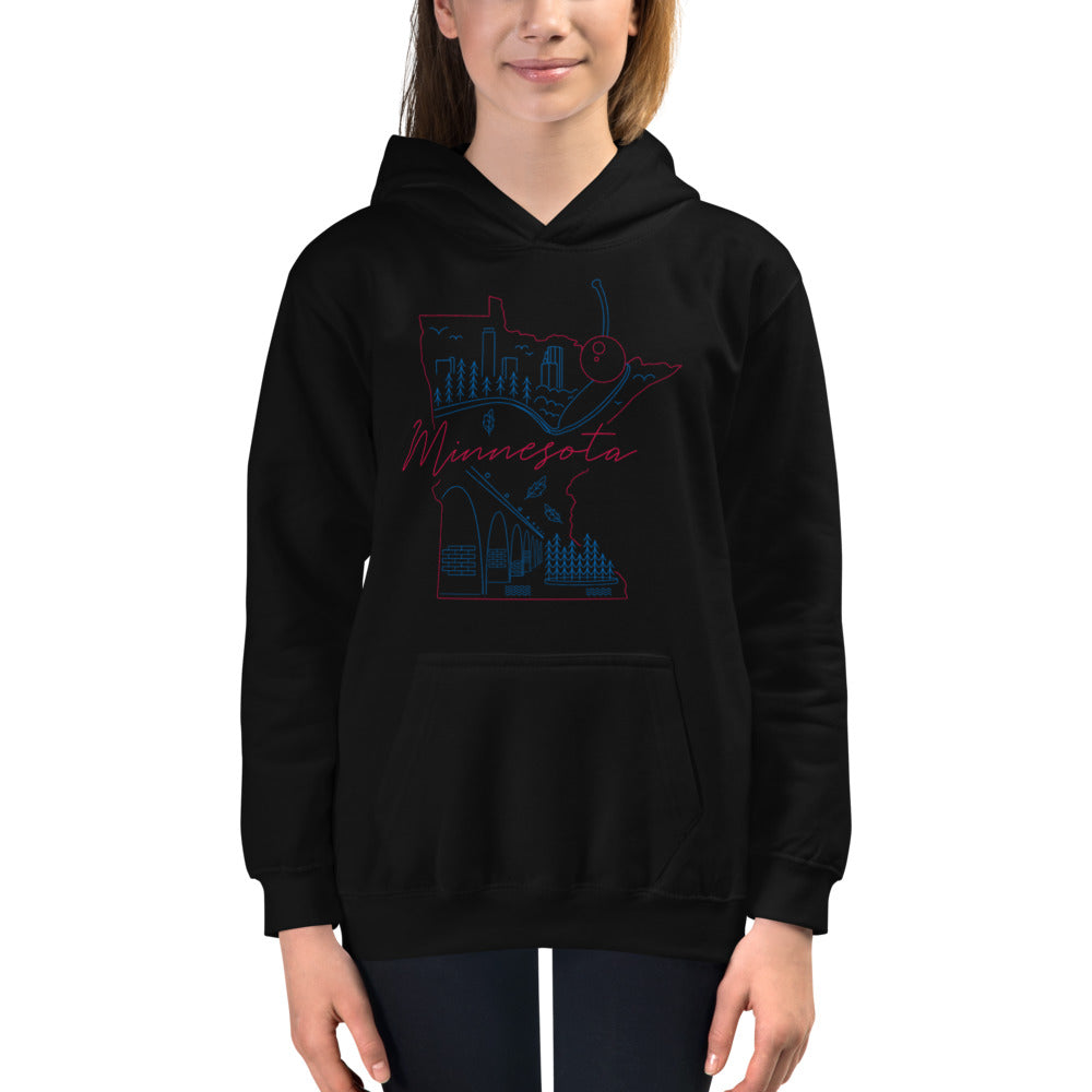 All of Minnesota Too Kids Hoodie - Corazón Clothing