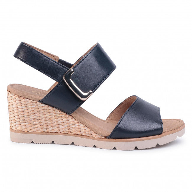 Porter Midnight Blue Wedge Sandals