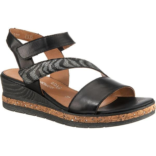 Flick Black Wedge Sandals