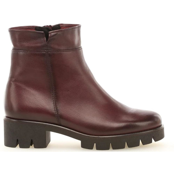 Badge Red Ankle Boots