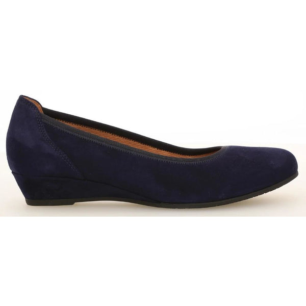 Chester Blue Wedge Shoes