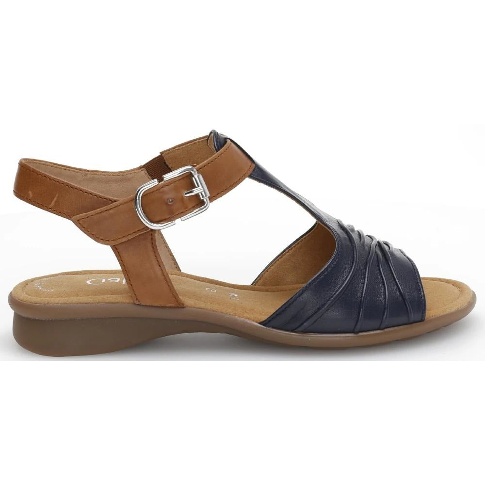 Moondust Blue/Camel Sandals