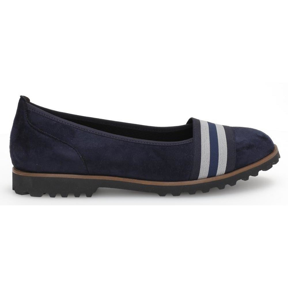Geysir Blue Slip On Shoe