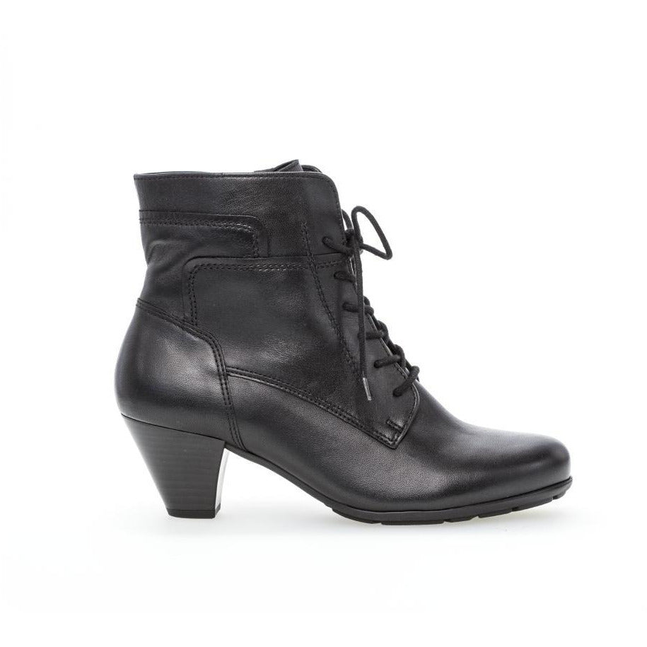 National  Lace Black Ankle Boots