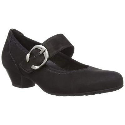 Ousby Black Nubuck Mary-Janes