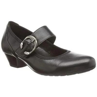 Ousby Black Leather Mary-Janes