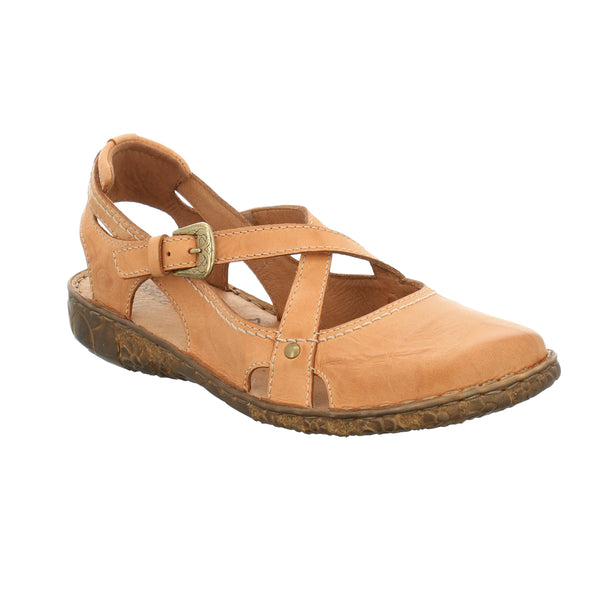 Rosalie 13 Orange Closed Toe Sandals