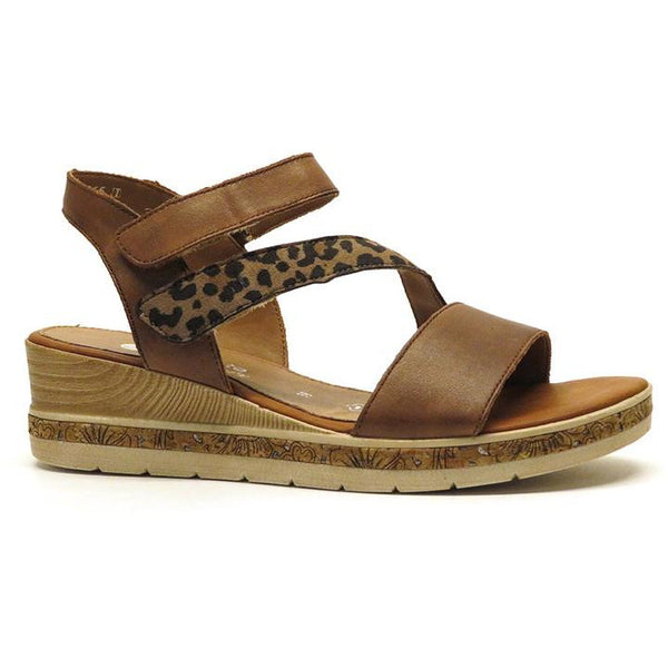 Flick Brown Wedge Sandals