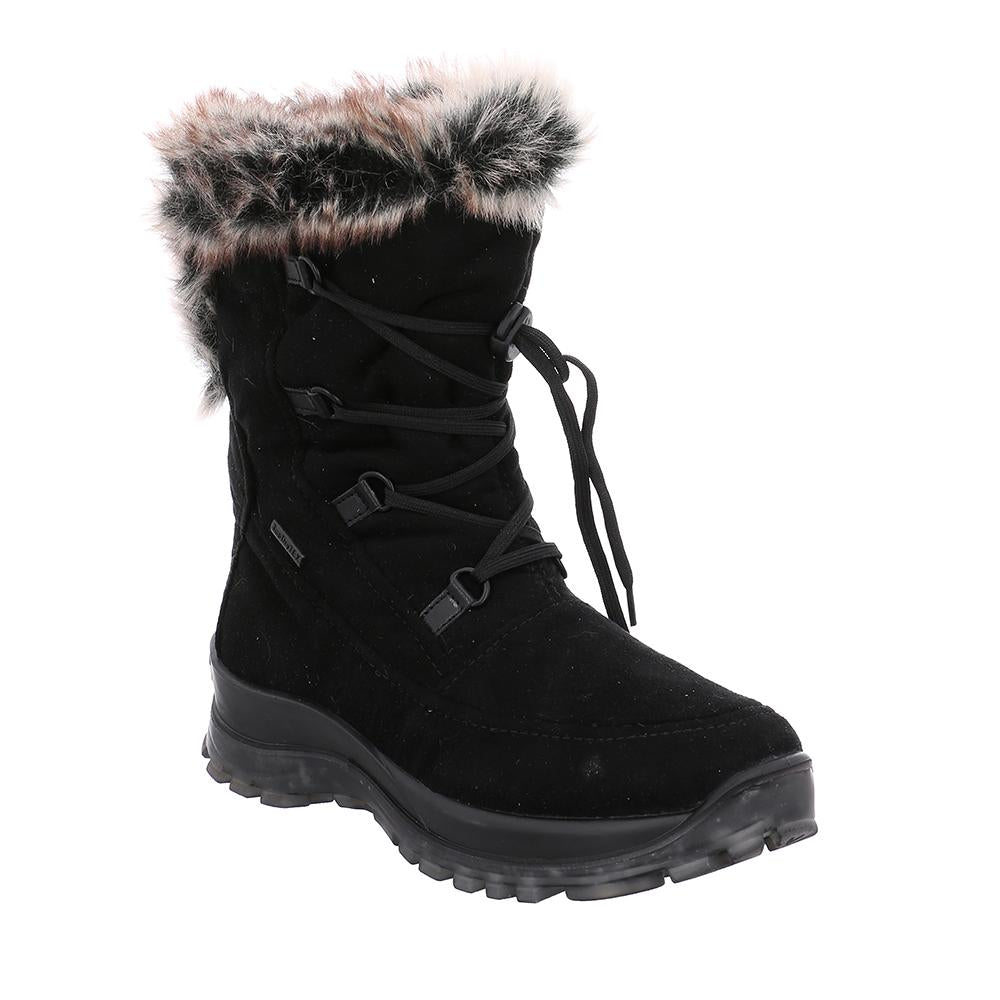 Alaska Black Fur Top Snow Boots