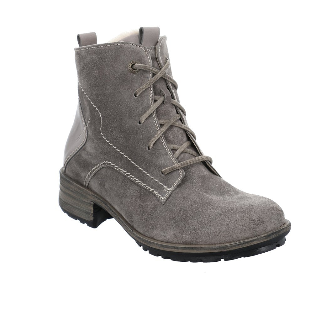 Sandra  96 Grey Suede Ankle Boots