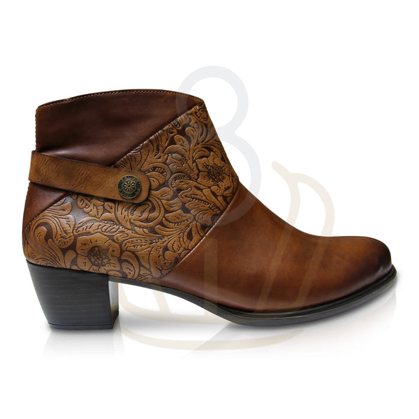 Marie Brown Ankle Boots