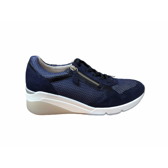 Jessica Blue Side Zip Casual Trainers