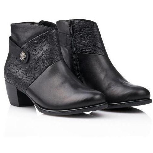 Marie Black Ankle Boots