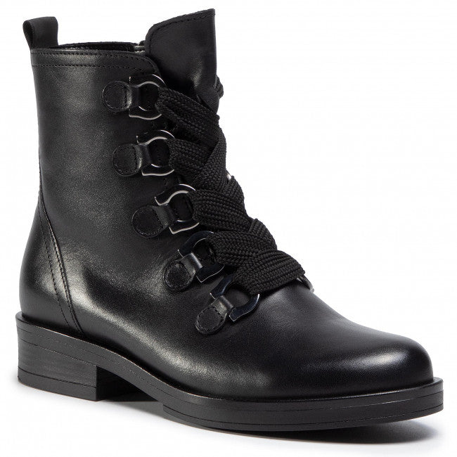 Halkirk Black Military Based Ankle Boots