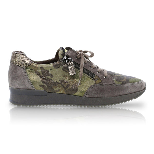 Naomi Green Camouflage Sneakers