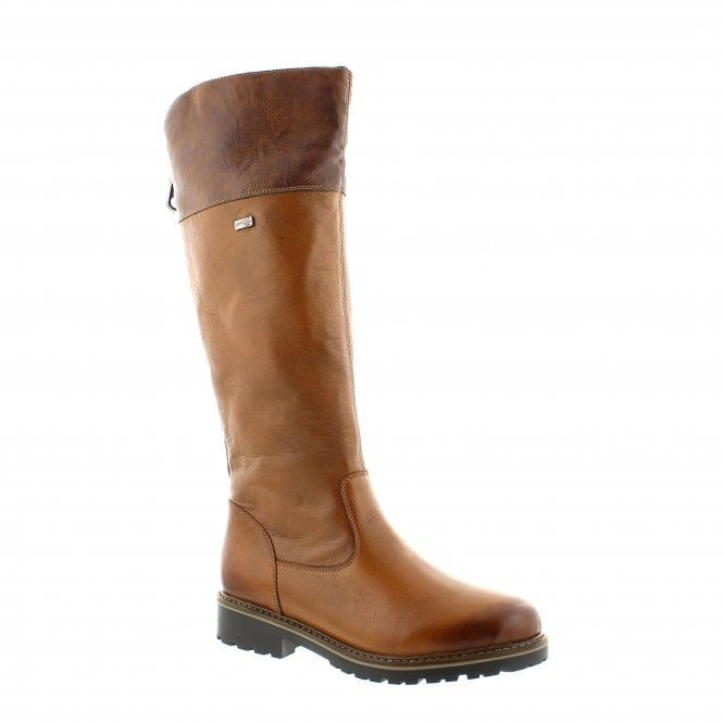 Melany Brown Leather Womens Knee High Boots
