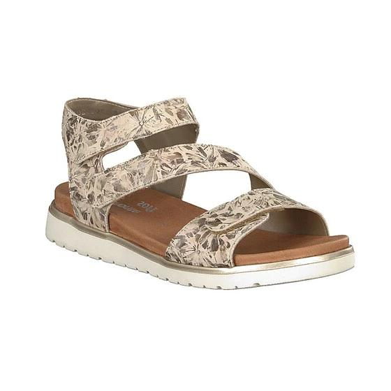 Frankie Beige Combination Sandals