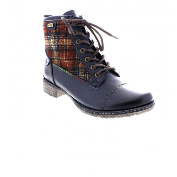 Brenda Blue Combi Ankle Boots