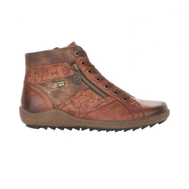 Pepper Brown Combi Lace Ups with Zip