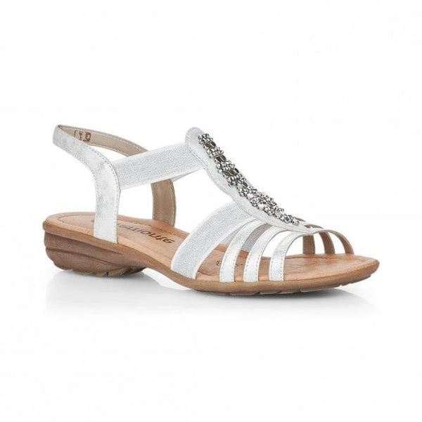 Daisy Silver Sandals