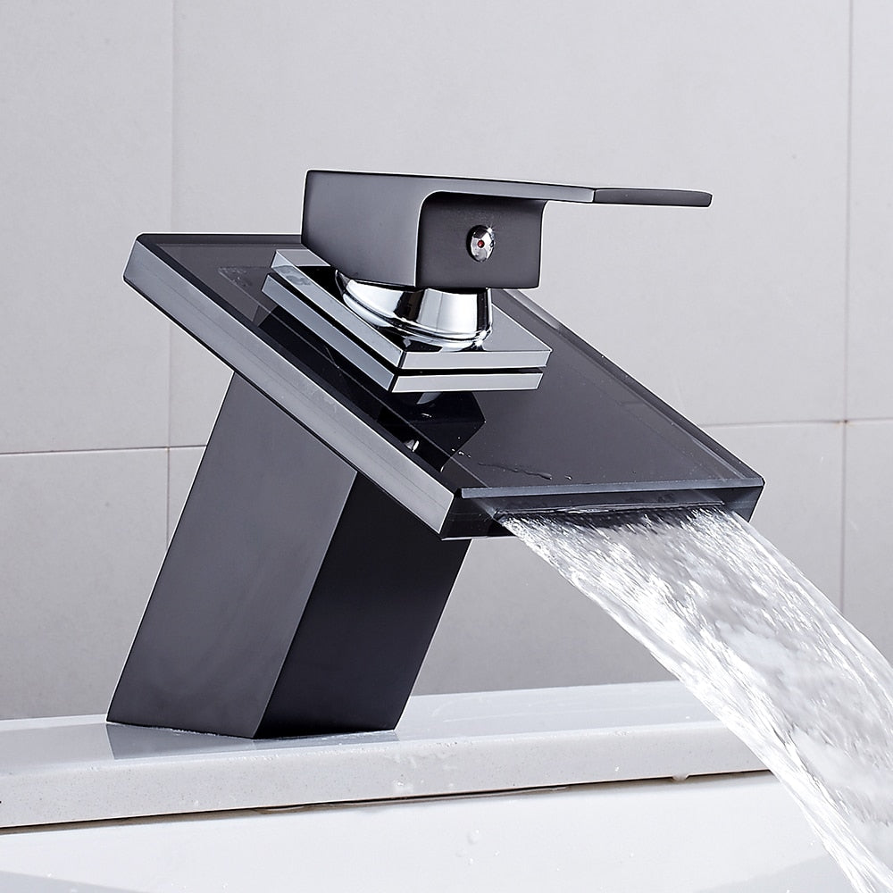LUNERA BATHROOM WATERFALL GLASS FAUCET