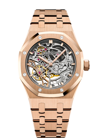 Audemars Piguet Rose Gold Openworked Skeleton Royal Oak