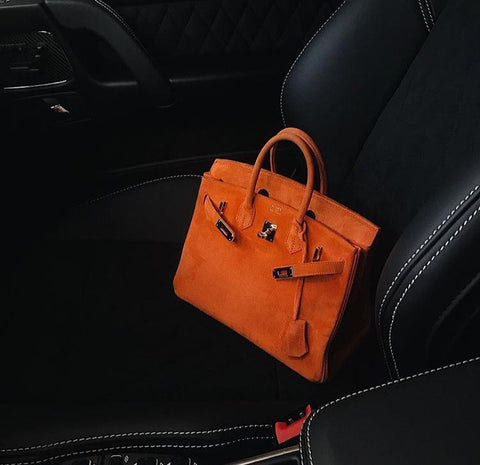 Hermes Birkin Orange Suede Doblis