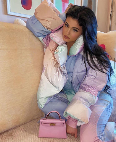 Kylie With Hermes Kelly 20 Mauve Sylvester Epsom