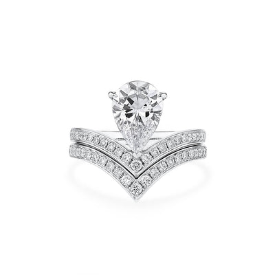 2.42ct Pear Shape Diamond Ring