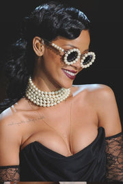 Chanel Vintage Round Pearl Sunglasses