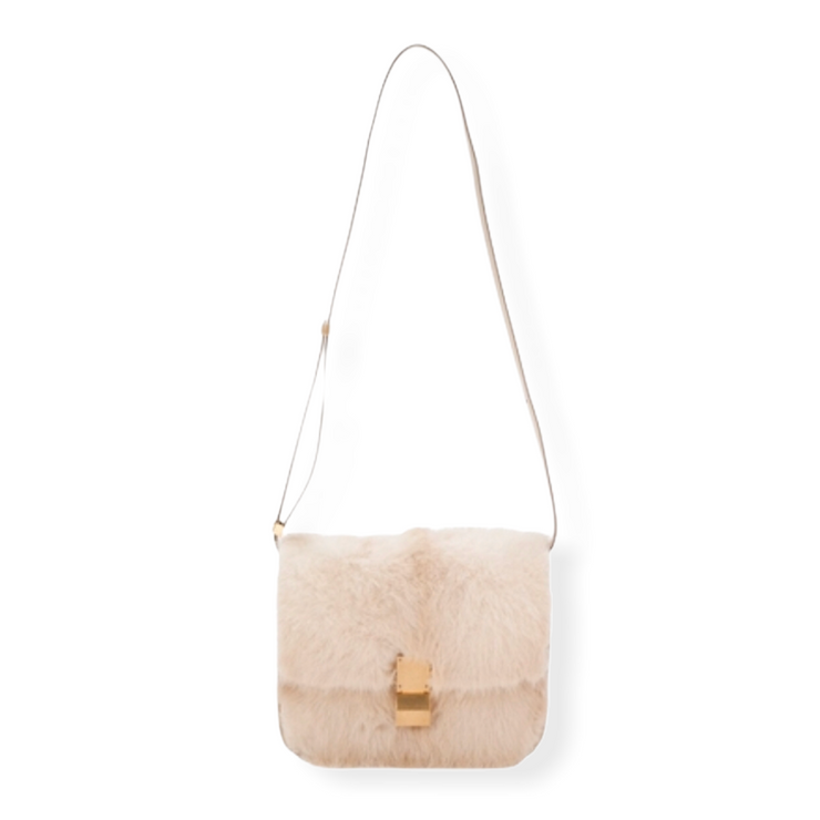 'Old Céline' Medium Classic Box Bag Mink