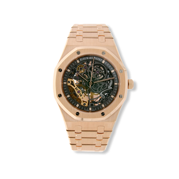 Audemars Piguet Royal Oak Double Balance Wheel Openworked 'Skeleton' Rose Gold