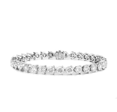 10.71ct Diamond Tennis Bracelet White Gold