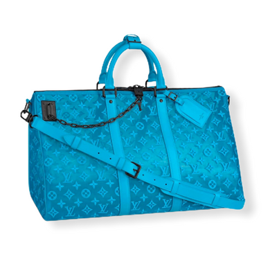 Louis Vuitton Keepall Triangle Badoulière 50 Blue