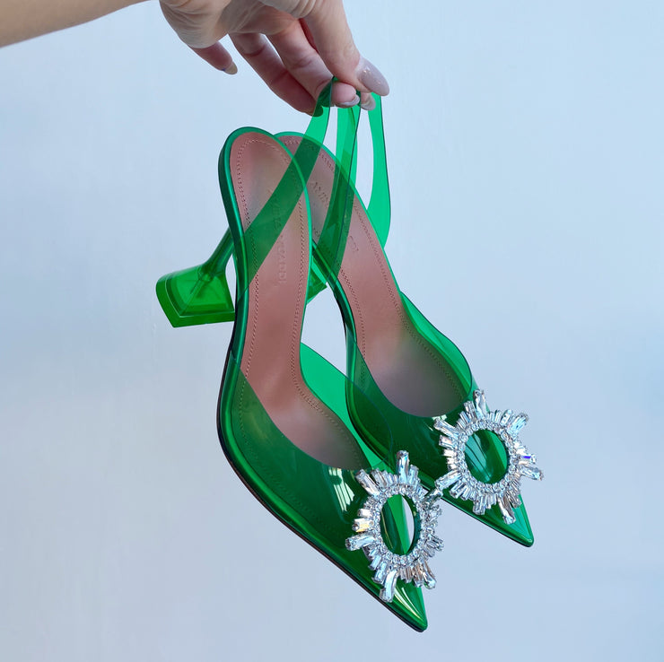 Amina Muaddi Begum Pump Green