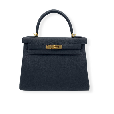 Hermès Kelly 28 Black Togo Gold Hardware