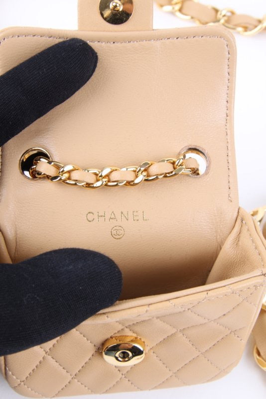 Chanel Mini Belt Bag Nude