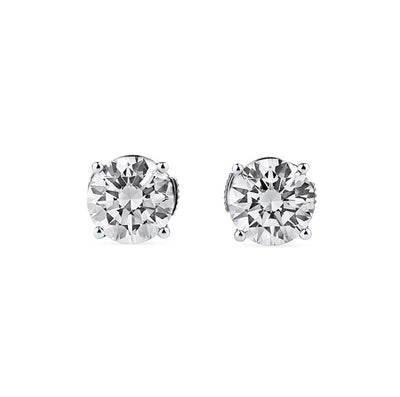 2.02ct Diamond Round Stud Earrings
