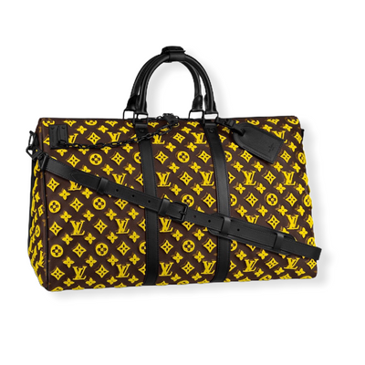 Louis Vuitton Keepall Triangle Bandoulière 50 Yellow